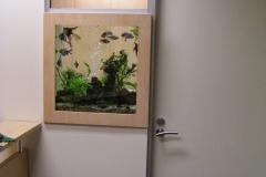 Office aquarium install
